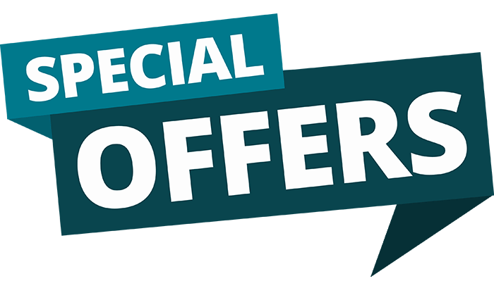 Special offers logo english